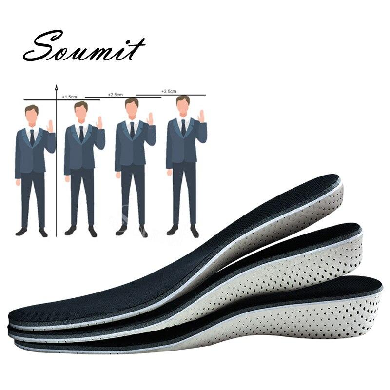 Soumit-plantillas de aumento de altura para hombre y mujer, zapatos EVA de...