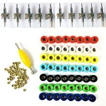 56 sztuk koła łożyskowane nakrętki i 10 ciężarówek dla 96mm deskorolka drewniane podstrunnica zabawki Finger board Accessary części zamienne narzędzie
