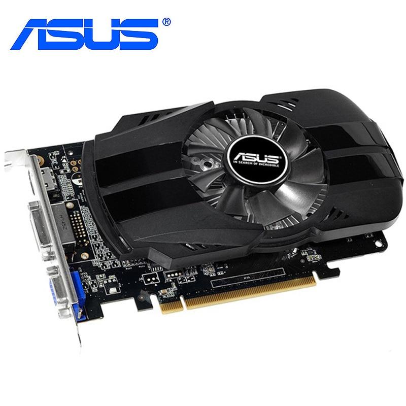 ASUS GTX 750Ti 2GB tarjetas gráficas GTX 750-FML-2GD5 128Bit GDDR5 tarjeta de vídeo para nVIDIA Geforce HDMI VGA DVI GTX750Ti 2GB utilizado