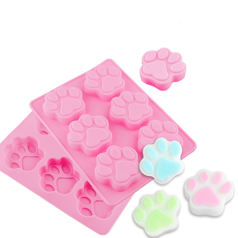 3D Silicone Baking Molds Dog Footprint Cake Molds DIY Cookie Mould Chocolate Biscuit Mold Bakeware Cake Decorating Tools недорого