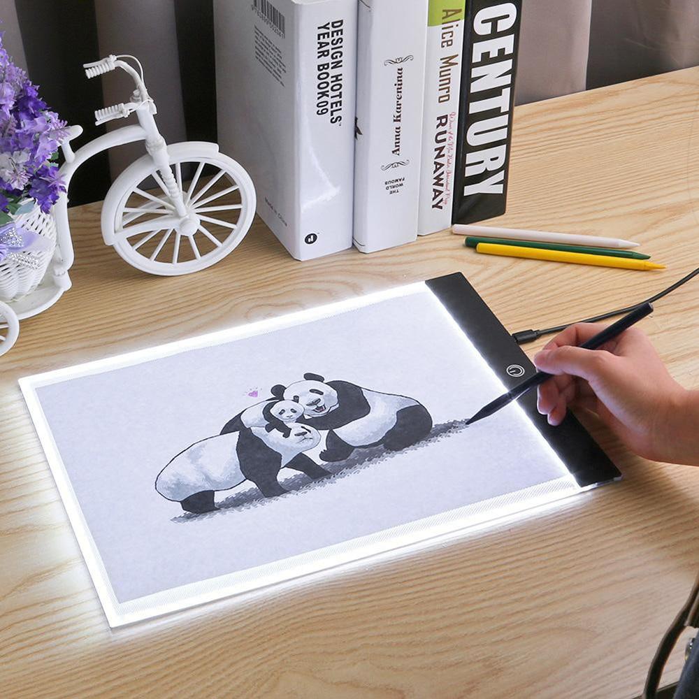 A5(24x15 см) Светодиодная доска для рисования, планшет для рисования A5, Светодиодная доска для рисования, графический цифровой планшет для твор...