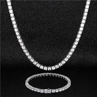 otiy custom 925 sterling silver gold vvs moissanite jewellery choker hip hop men women diamond necklace bracelet