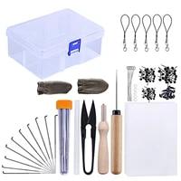 54 pcs needle felting kit needle felting hand craft needle felting foam scissors awl protect finger sewing accessories