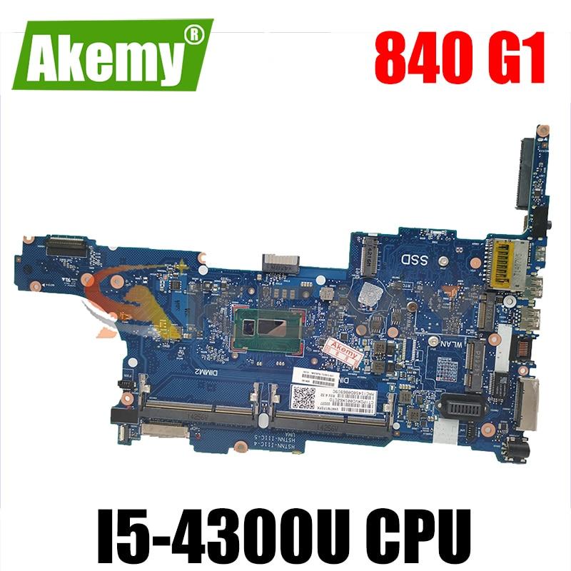 802511-802511-501 para HP Pavilion 840 G1 001 i5-4300U Laptop Motherboard 6050A2560201 SR1ED DDR3 Notebook Mainboard