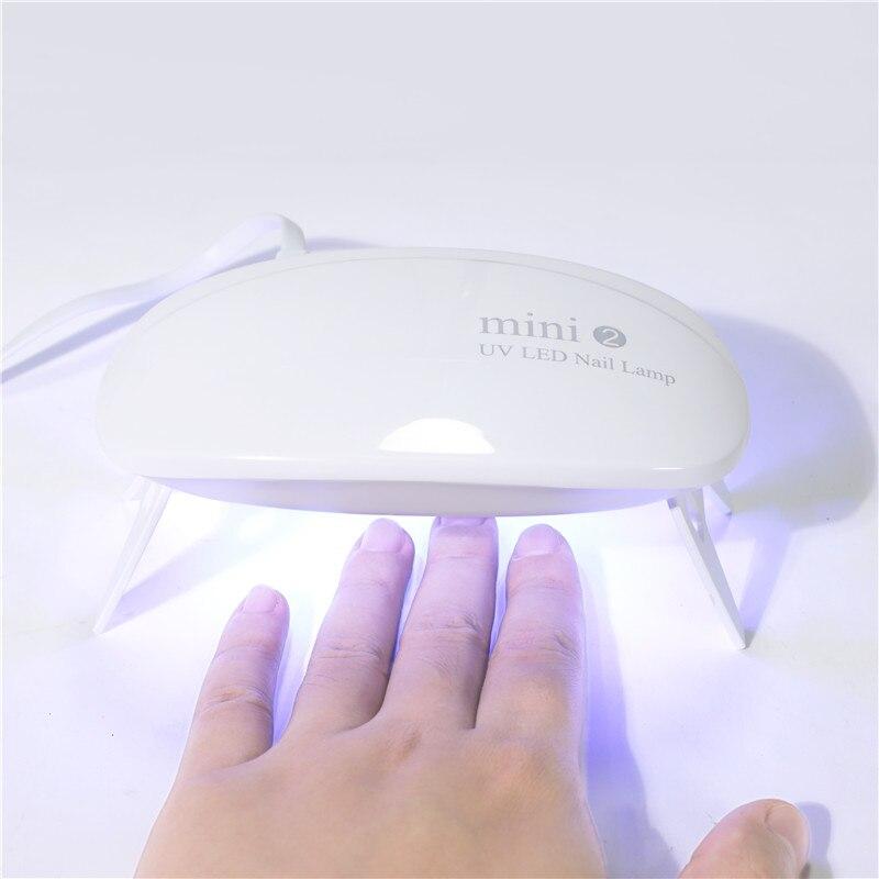 TP 16W-minilámpara UV LED portátil para uñas, lámpara secadora para esmalte de Gel para uso doméstico, con Cable USB, color rosa o blanco