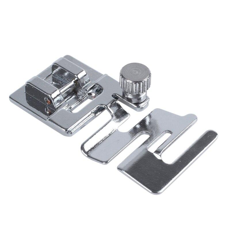 1 unidad de cinta de cordón elástico, máquina de coser elástico, prensatelas, herramientas de coser a presión, accesorios de costura DIY