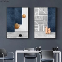 nordic modern oil painting home geometric graphic poster living room bedroom wall abstract art printing wall chart