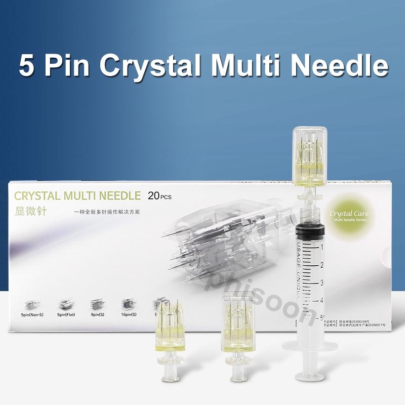 5Pin crystal Multi needle Hydrolifting Gun Needle For EZ Vacuum Mesotherapy Meso Gun Injector Negative Pressure Cartridge Needle