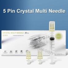 5Pin crystal Multi needle Hydrolifting Gun Needle For EZ Vacuum Mesotherapy Meso Gun Injector Negati