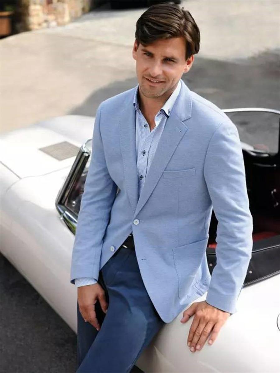 Handsome Two Buttons Groomsmen  Notch Lapel Groom Tuxedos  Men Suits Wedding/Prom/Dinner Best Blazer(Jacket+Pants+Tie) 075