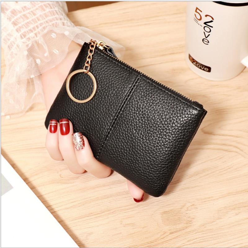 2021 Fashion PU Leather Mini Coin Purses Card Key Holder Small Clutch Bag