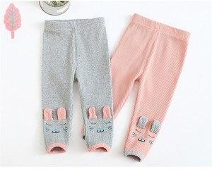 Штаны для маленьких девочек весенне-осенние хлопковые леггинсы с рисунком обтягивающие штаны с эластичной резинкой на талии для девочек, Новое поступление, детские брюки