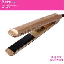 surker electric hair straightener SK-9203 straightening iron Hair Care negative ion ceramic  panel c