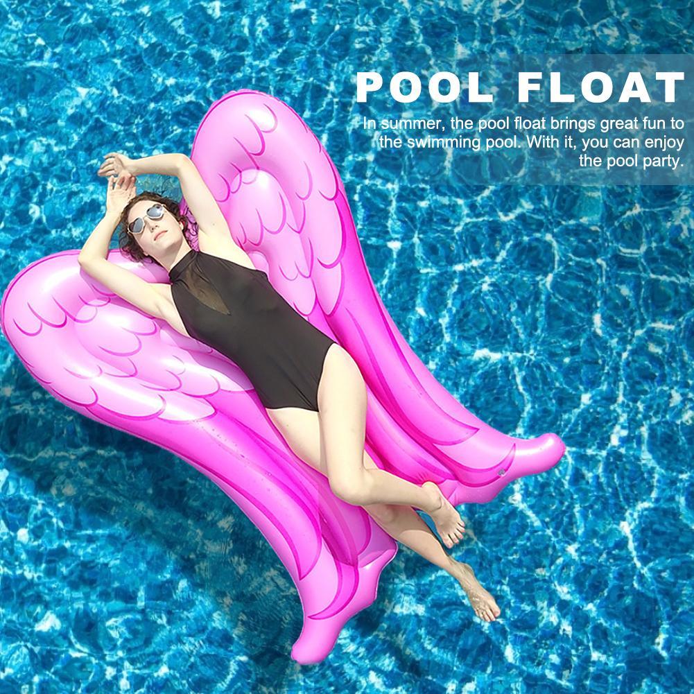 Piscina de verano flotador inflable piscina alas de Ángel flotador colchoneta flotante juguete de playa para hombres mujeres Fiesta EN LA Piscina Picsine Gonflable
