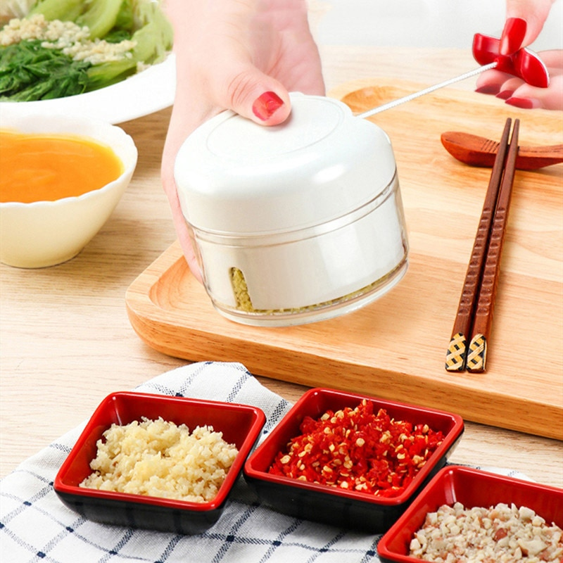 Mini picadora de verduras y ajo, picadora, picadora, trituradora de ajo, prensa para carne, nueces, pimienta, cebolla, frutas, vegetales, herramienta de cocina