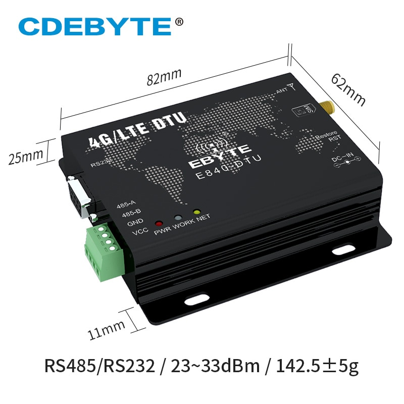 E840-DTU(4G-02E) 4G Modem Module LTE LTE-FDD WCDMA GSM IoT M2M Data Wireless Transceiver