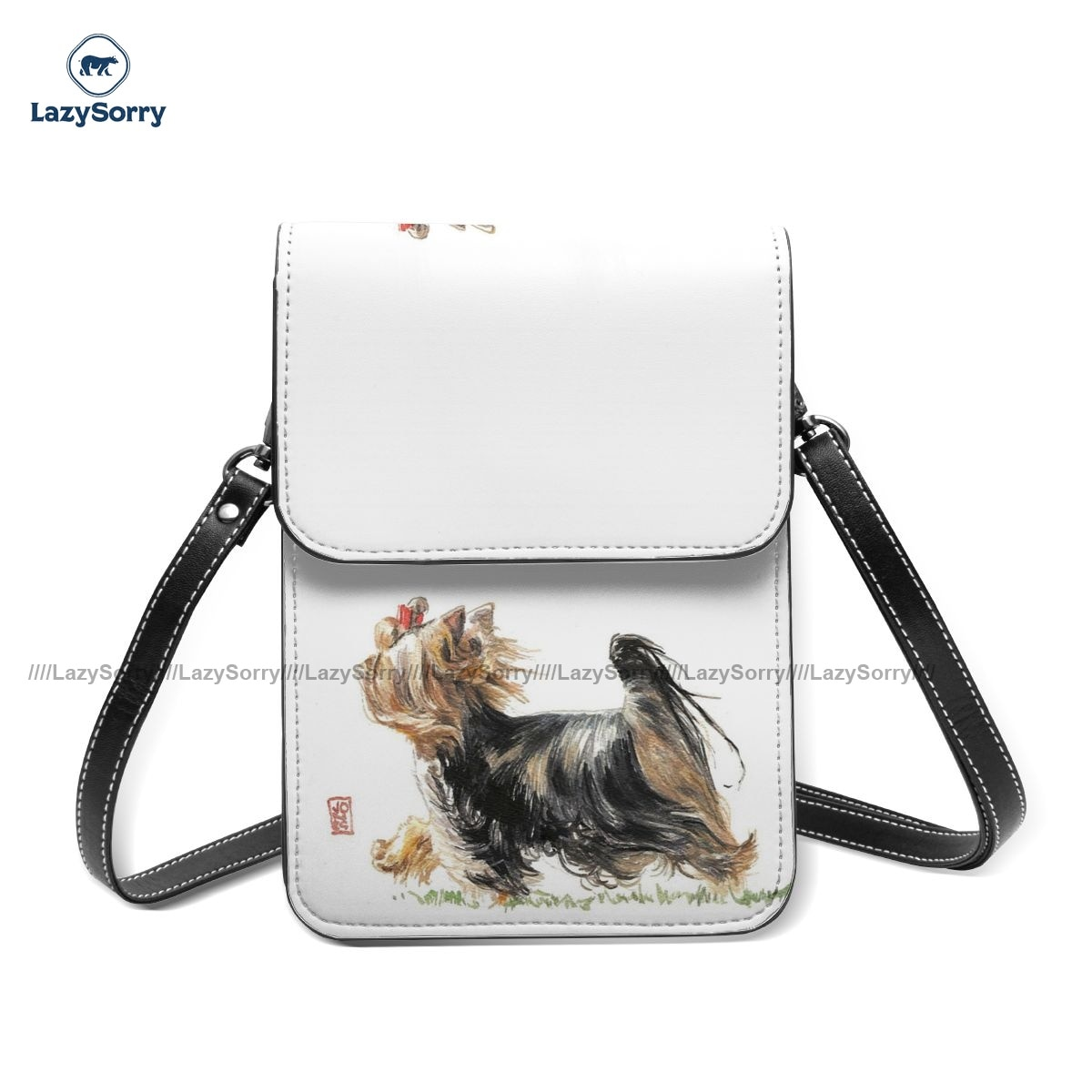Yorkshire Terrier Shoulder Bag Shopping Leather Mobile Phone Bag Female Bulk Funny Bags