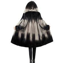 Women Jackets 2020 Winter Imitation Mink Fur Coat Female Plus Size Warm Clothes Hooded High quality Artificial Fur Coats FC188