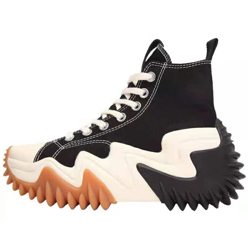 2021 الخريف جديد المرأة عالية منصة حذاء قماش الترفيه سميكة أسفل الرياضة حذاء قماش أحذية رياضية كاجوال الارتفاع زيادة الأحذية