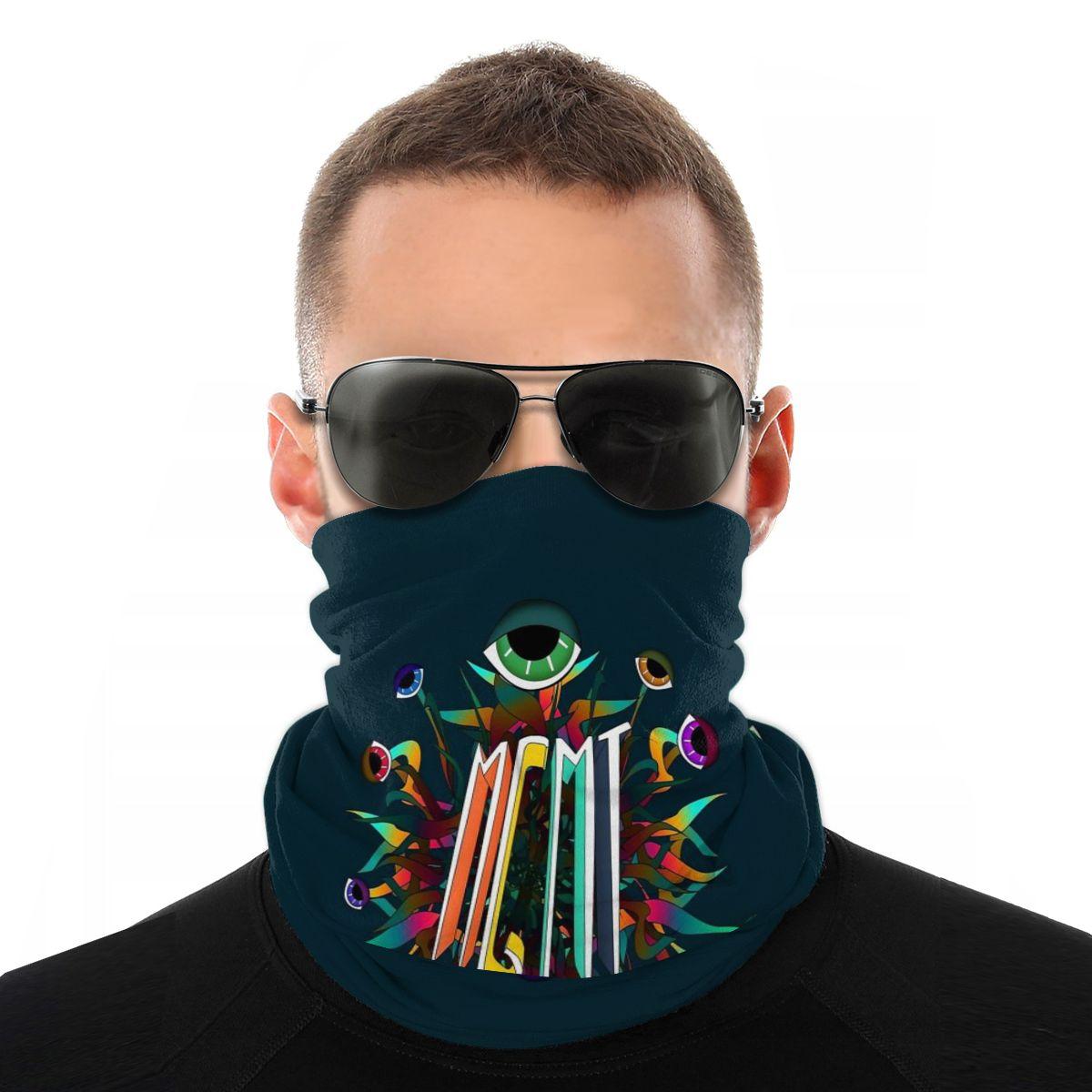 Capa de rosto de pescoço de lenço mágico masculino mgmt feminino versatilidade caps ciclismo elástico snood scrunchie