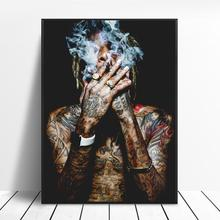 Wiz Khalifa-affiche de musique Rap Hip-Hop   Affiche en tissu artistique, images murales imprimées pour décor de salon, toile, affiches et imprimés