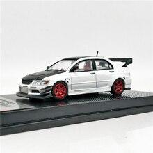 CM Model 164  Mitsubishi Lancer Evolution IX Voltex White w/ Black Carbon Hood Diecast Model Car
