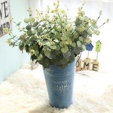 Feuille artificielle Eucalyptus laisser Bouquet arbre soie artificielle fleurs bricolage mariage décoration de la maison arrangement plante Faux feuillage