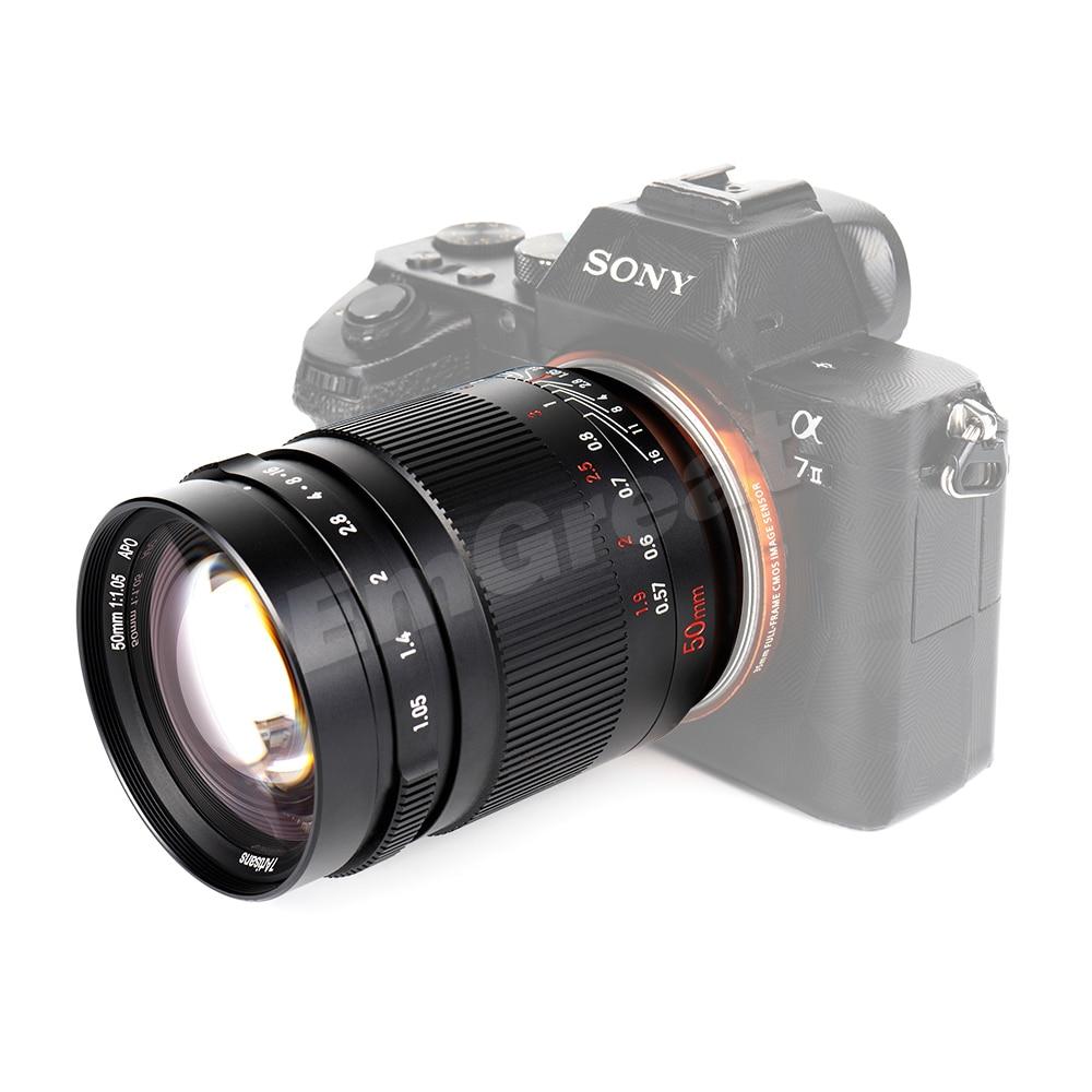 7artisans 50mm F1 05 Full Frame Large Aperture Fixed Focus Camera Lens Fit for Canon EOSR Mount SONY E-Mount Nikon Z-mount