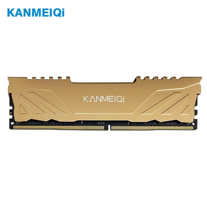 KANMEIQi Desktop ram DDR3 4GB 8GB 1333Mhz/1600MHz Memory computer DDR4 8G 16GB Heat sink 2400 2666 3200Mhz Dimm 1.2v/1.5v golden