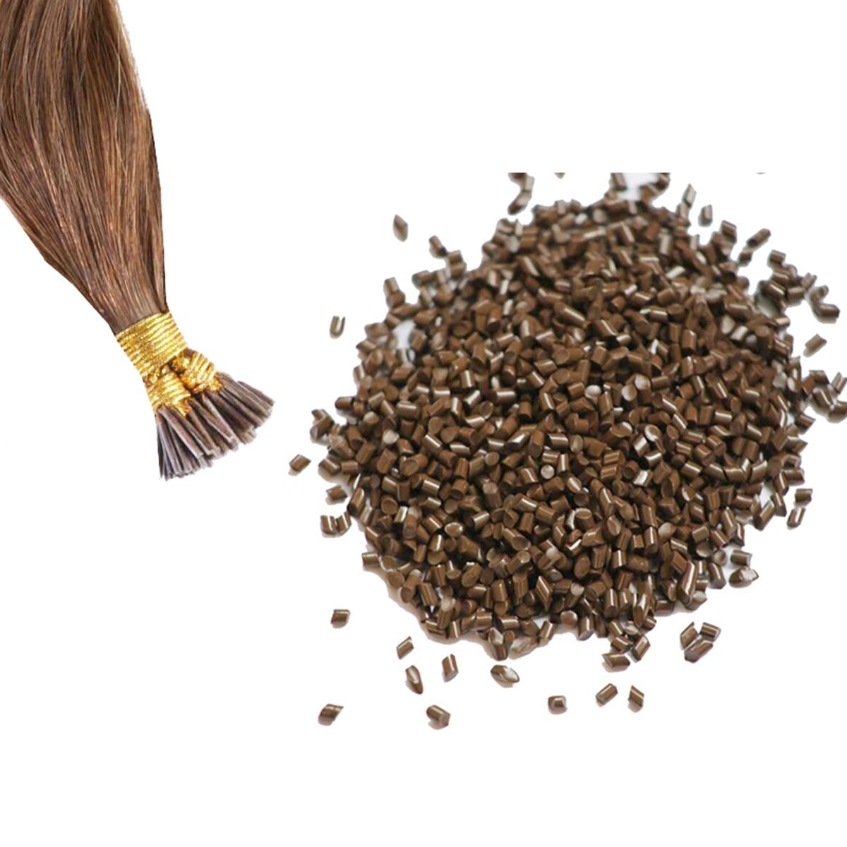 1000g ITALY  GLUE BEADS Keratin Glue Granules Beads Grains Hair Extensions Brown color hair glue beads