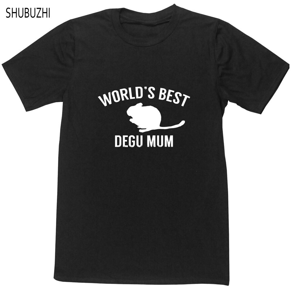 Precio más barato camiseta marca de hombres camiseta del mundo mejor degu mamá unisex camiseta animal mascota amante naturaleza octodon chile verano Camisetas