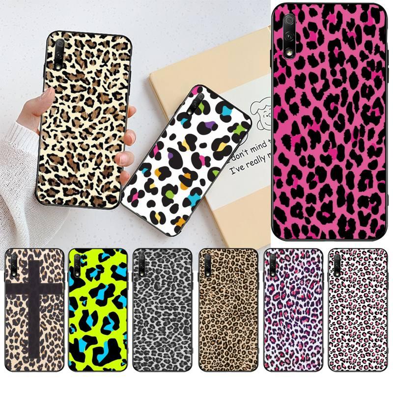 CUTEWANAN leopardo guepardo Piel de impresión TPU suave silicona teléfono funda para Huawei Honor 20 10 9 8 8x 8c 9x 7c 7a Lite view pro