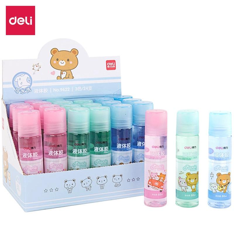 9622 pegamento líquido coloreado 50ml Oficina Financiera lavable mano clara pegamento para los estudiantes de aprendizaje papelería suministros de oficina