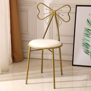 Стул для спальни для макияжа, Современная спинка, железный кожаный стул для макияжа, туалетный стул, украшение для дома