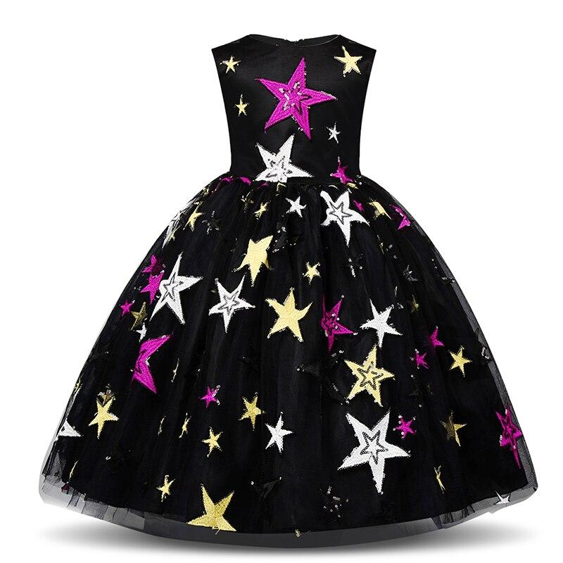 Traje de Año Nuevo para niñas vestido de noche cielo Noche vestidos de fiesta de cumpleaños para niñas niños ropa Casual disfraz 10
