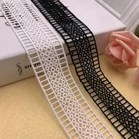 4 2cm wide staircase water soluble embroidery lace milk silk bilateral lace clothing accessories skirt accessories barcode