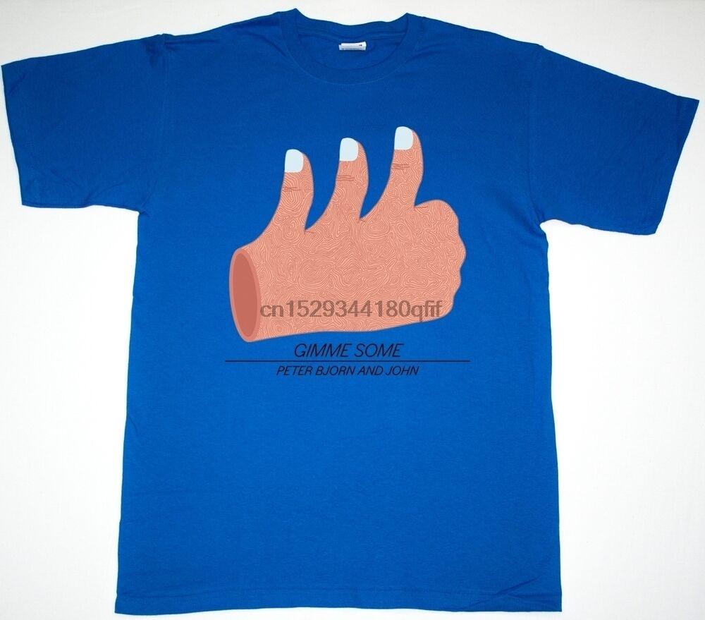 PETER BJORN y JOHN Dame INDIE POP ROCK P B J corte copia nueva camiseta azul