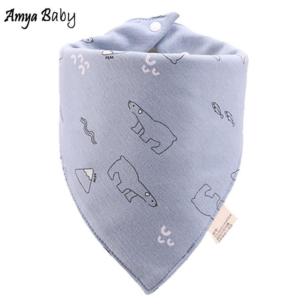 High Quality Soft Baby Bibs Triangle Double Layers Cotton Baberos Cartoon Character Baby Bandana Bibs Dribble Bibs Towel
