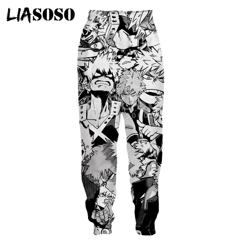 LIASOSO 3d Print Men Women Sweatpants Anime Boy My Hero Academia Many Faces Casual Sweat Pants Joggers Cool Pants X2788