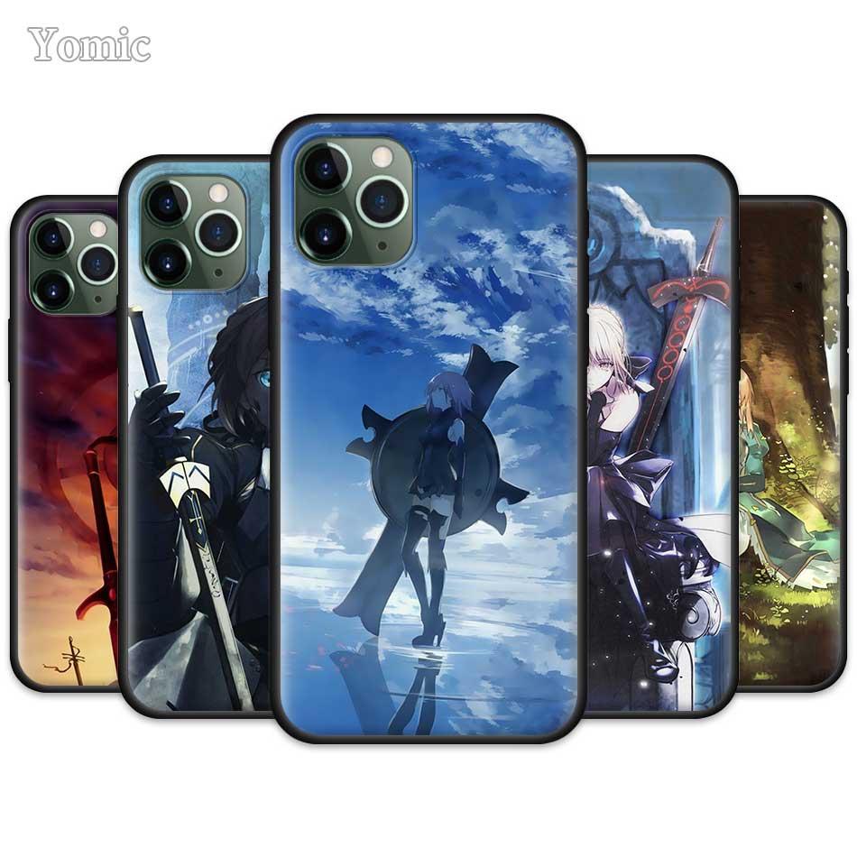 Fate Grand заказ Аниме Чехол для Apple iPhone 11 Pro XR X XS MAX 7 8 6 6S Plus 5 5S SE Черный силиконовый мягкий чехол для телефона