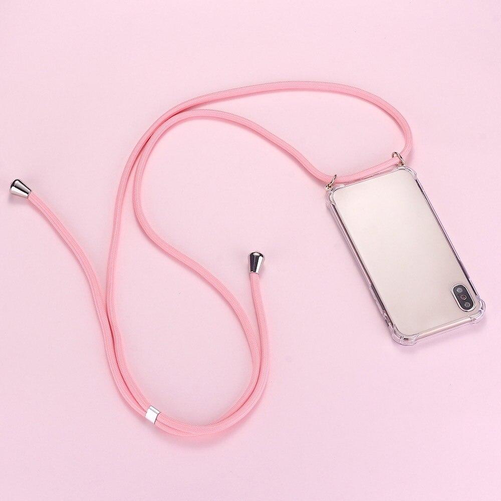 Lujosa funda de teléfono de silicona con cordón para iPhone 11 Pro...