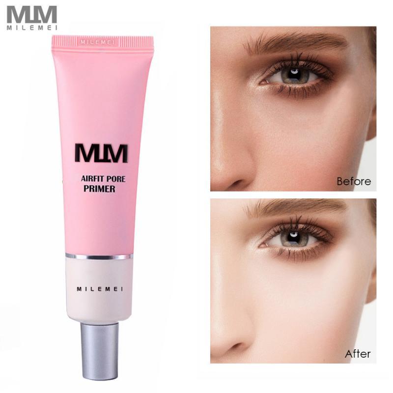 MILEMEI Primer Make Up Shrink Pore Primer Base Smooth Face Brighten Makeup Skin Invisible Pores Concealer Korea Cosmetics TSLM1