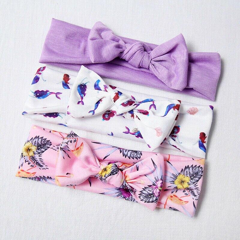 Комплект из 3 предметов для новорожденных девочек; Повязка на голову с цветочным рисунком; Аксессуары для волос; Бандо fille