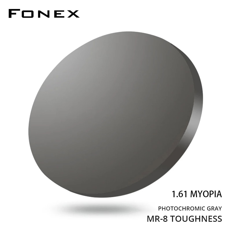 1.61MR-8 Photochromic  High Quality Toughness Thinner Super-Tough Optical Lenses Aspheric Lens (Suggest for Punch/Trough/Trim)