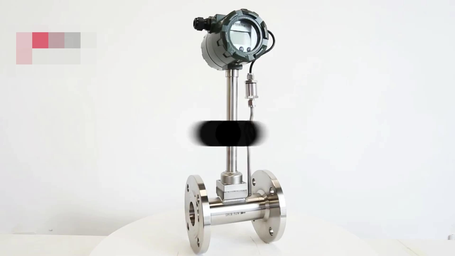 Высокотемпературное цифровое устройство для измерения газа и воды DN15, вихревой расходомер, датчик расходомера