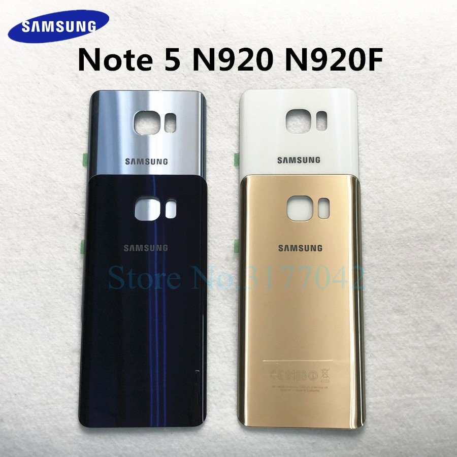 Задняя крышка для samsung Galaxy Note 5 N920 SM-N920F N920P N920A N920V note5 Задняя стеклянная крышка