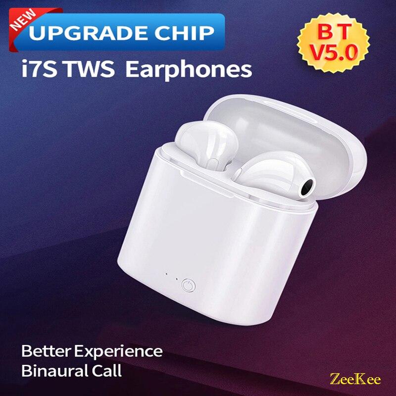 Mais novo fone de ouvido bt 5.0 i7s tws, fones de ouvido estéreo, mini intra-auricular, preço barato