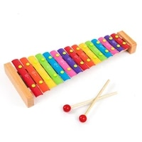 kmise wooden xylophone musical toys baby enfant children with mallets 15 keys non toxic preschool learning
