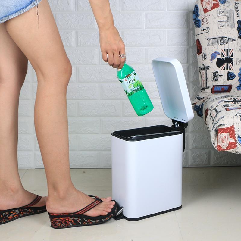 Trashcan Pattumiera Raccolta Differenziata Cubo Basura De Cuisine Trash Bag Pedal Poubelle Dustbin Lixeira Recycle Rubbish Bin enlarge
