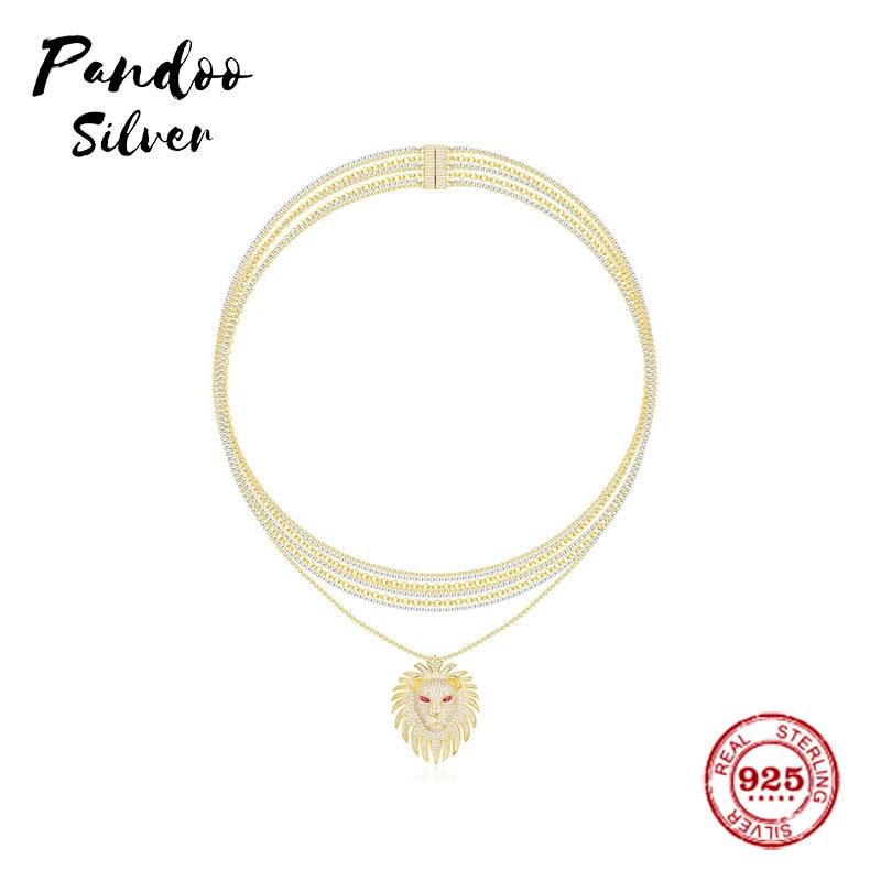Fashion Charm Copy 11 Copy, Yellow Lioness Necklace Multi-Chain Necklace Women Monaco Jewelry Gift